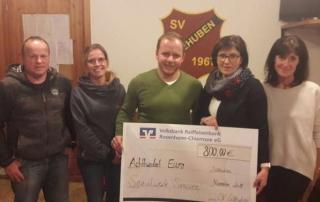SV Söllhuben spendet 800 Euro an das Sozialwerk Simssee e.V.